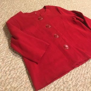 Vintage red swing topper box coat sweater